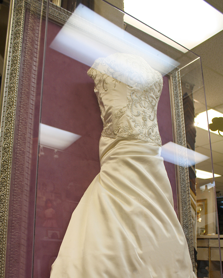 frame wedding dress
